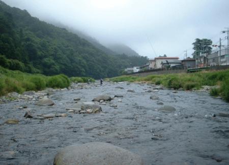 鮎の釣り場 (小田原 早川)
